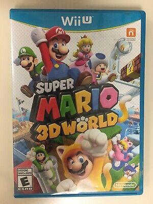 Super Mario 3D World (Nintendo Wii U, 2013) Has Manual