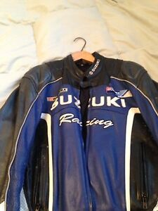 Suzuki leather motorcycle jacket