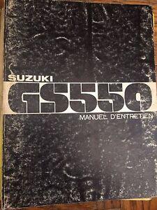 1977 1978 Suzuki GS550 Manuel D'Entretien