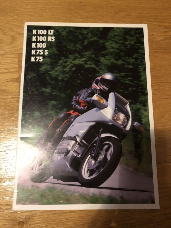Genuine BMW Motorcycle Range Sales Brochure 1988 GERMAN K100LT K100RS K75 (161)
