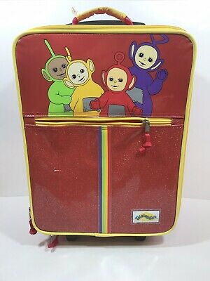 Vintage Teletubbies ROLLING LUGGAGE BAG SUITCASE BACKPACK Red Po Lala  - La La Teletubbies