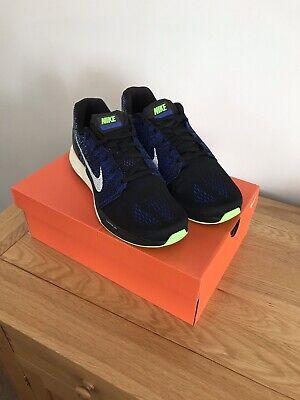 Nike Lunarglide 7 UK Mens Size 10, Black/Blue/Green, Brand New!