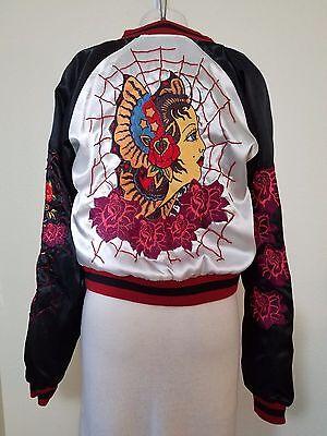 MULAN~Unique Baseball Style Reversible Jacket W/ Beading Embellished Design~S-L