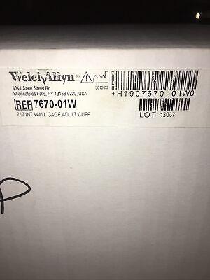 Welch Allyn 767 Series Wall Blood Pressure Gauge 7670-01 W New Open Box