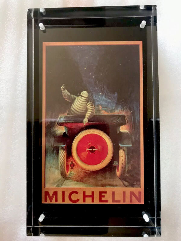 Michelin Tire Man Tyres Extremely Rare Glass Paperweight Collectible Advertising