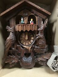 River City Clocks One Day Musical Hunter Cuckoo Clock MD419-17 Germany