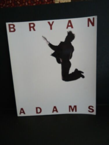 Vintage BRYAN ADAMS by Bryan Adams 1995 S/C 12.25 x 10.75 Inches
