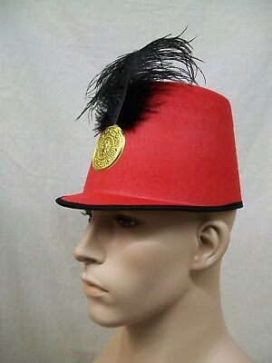 Toy Soldier Hat Red Black Gold Nutcracker Majorette Band Drummer Boy Royal Guard