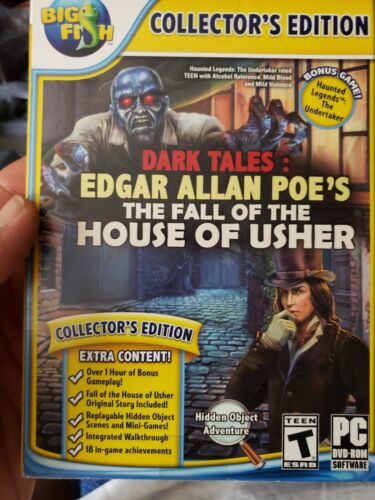 Dark Tales THE FALL OF THE HOUSE OF USHER CE Hidden Object PC Game NEW + BONUS!