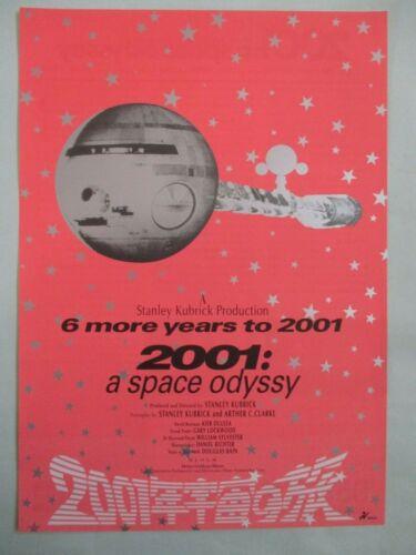2001: A Space Odyssey  R1995 Japan original B5 mini poster flyer chirashi NM