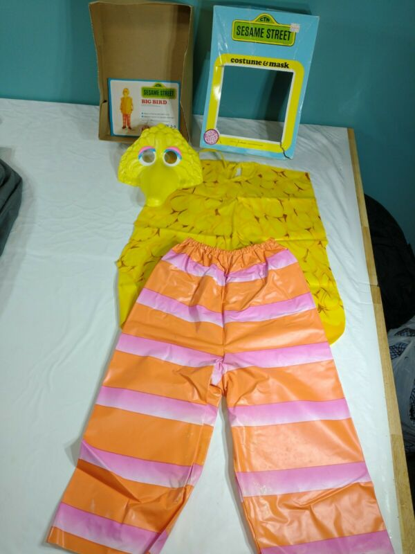 Vtg 1979 Ben Cooper 3-5 Sesame Street Big Bird Halloween Costume & Mask box VGC