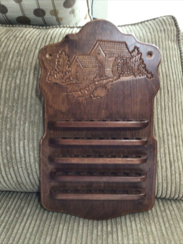 Handcrafted Wooden Thimble Display Shelf, holds 35 Thimbles
