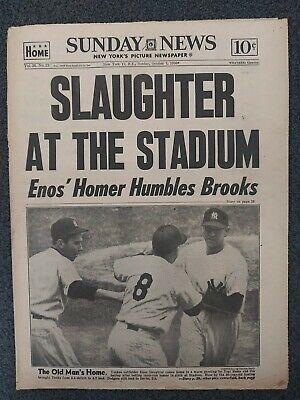 1956 World Series- Brooklyn Dodgers vs Yankees - New York Daily News Newspaper