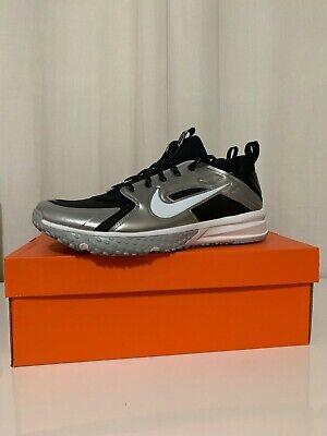 Black Turf Baseball Shoes - Nike Alpha Huarache Turf Baseball  Shoes Black Silver White 923435-015 size 8-12