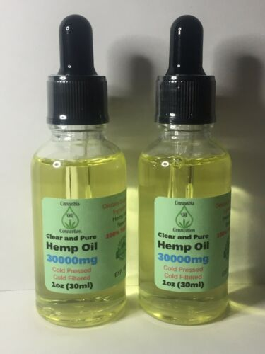 Clear and Pure Hemp Oil 3000mg *LOT OF 2*
