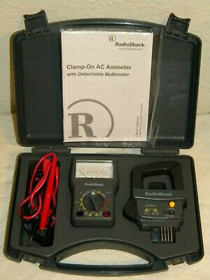 Radio Shack 22-602 12 Range Analog Detachable Multimeter W Ac Clamp On Ammeter