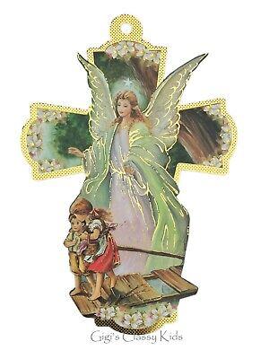 Guardian Angel Wall Cross Baptism Christening Boy Girl Gift First Communion -