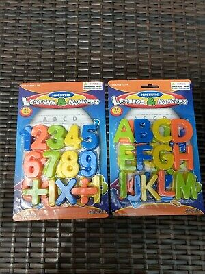 Kids Learning Teaching Magnetic Alphabet Letters & Numbers Lot Educational NEW