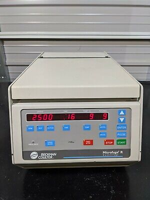 Beckman 365626 Microfuge R Benchtop Refrigerated Centrifuge Tested To -1c