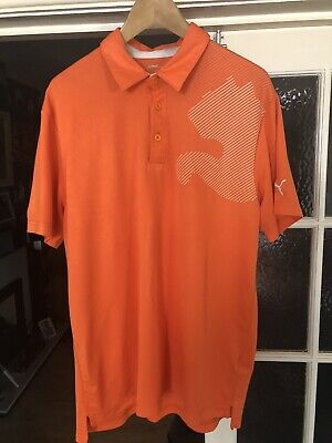 Puma golf shirt -Large. Orange.