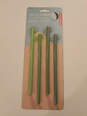 Kikkerland Cactus Pencils 4 Pencil Set-New