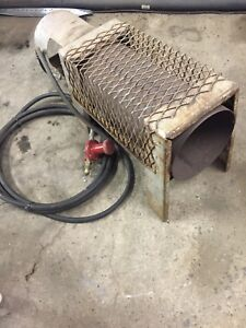 Propane fired space / job site heater