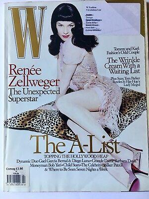 W Magazine Fashion Renee Zellweger Feb 2005 Jade Jagger Feature Inside