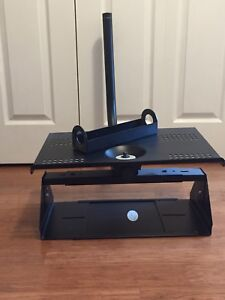 Swivel old-style tv mount with shelf