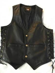 MENS VANSON LEATHER MOTORCYCLE VEST - NEW Underwood Logan Area Preview