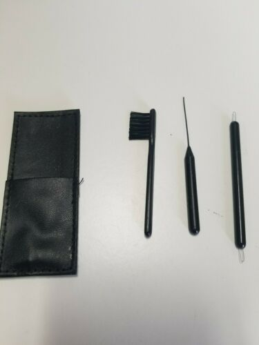 Hearing Aid Cleaning Tool Kit with sleeve case.