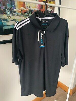 Brand New Adidas Golf Shirt Climacool - Black - Size Medium