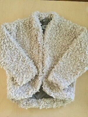New Old Navy Girls Faux Curly Lamb Fur Jacket  Size S 6 7 Perfect For Fall