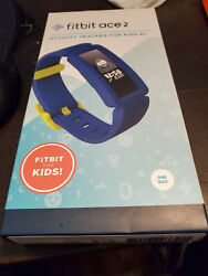 Fitbit Ace 2 Activity Tracker for Kids, One Size - Blue/Yellow Clasp BRAND NEW