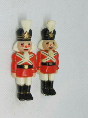 Vintage 1982 Hallmark Nutcracker Pin / Brooch Toy Soldier Pins Lot of 2