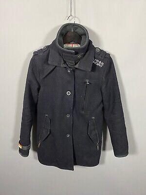 SUPERDRY PeaCoat - Medium - Navy - Wool - Great Condition - Men's