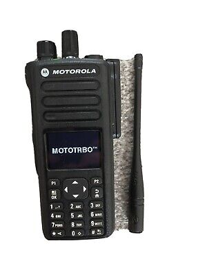 Motorola DP4800 Mototrbo Digital Two Way Radio Walkie Talkie With Base Charger