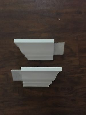 Crown Moulding Outside Corner Block returns made from wood 2 pack (pine)