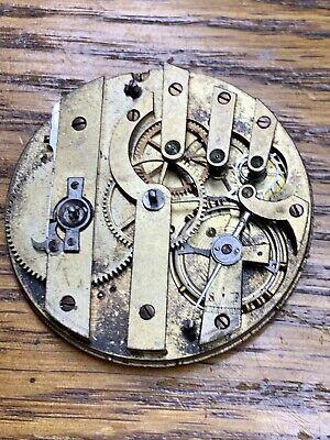 ERNEST DUVAL Men's Pocket Watch Movement Swiss 1890s Vintage Mechanical Key Wind