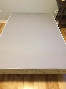 Like new Box spring and metal bed frame