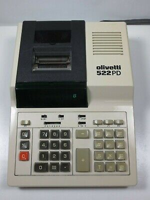 Vtg. Olivetti Adding Machine Calculator Model # 522 PD