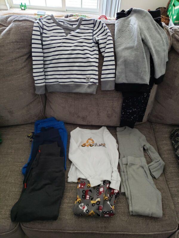 Lot Toddler Boys Clothes Size 5 5T Pants pajamas Shirts long underwear C11