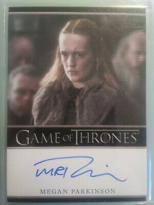 2019 Game of Thrones Inflexions Megan Parkinson Autograph