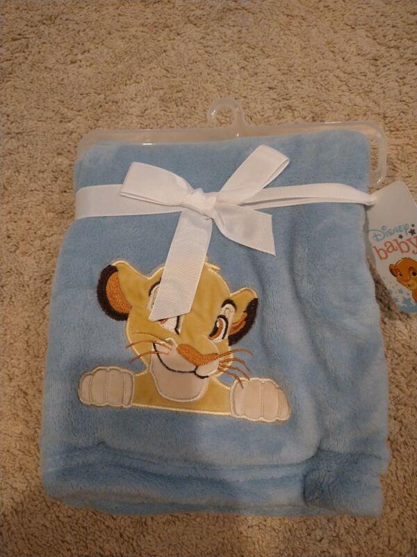Disney Baby Lion King Adventure Baby Blanket  by  Lambs & Ivy - Blue, Brown