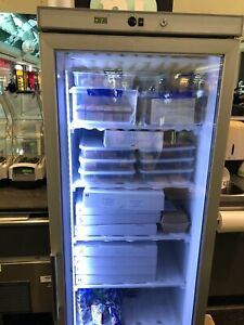 HF400G S/S Display Freezer with Glass Door Used 3 yrs Great Cond