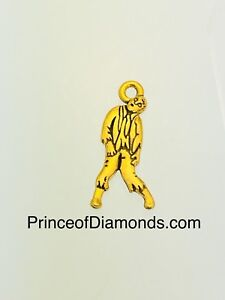 Gold coloured zombie pendant charm