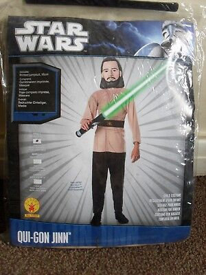 STAR WARS QUI-GON JINN OUTFIT COSTUME (JUMPSUIT & MASK) BY RUBIE'S AGE 3-4 YEARS
