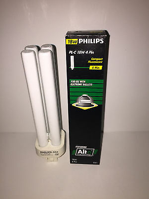 Philips Compact Fluorescent Light Bulb PLC 18W/841/4P/ALTO 4 Pin NEW 18w Compact Fluorescent Bulb