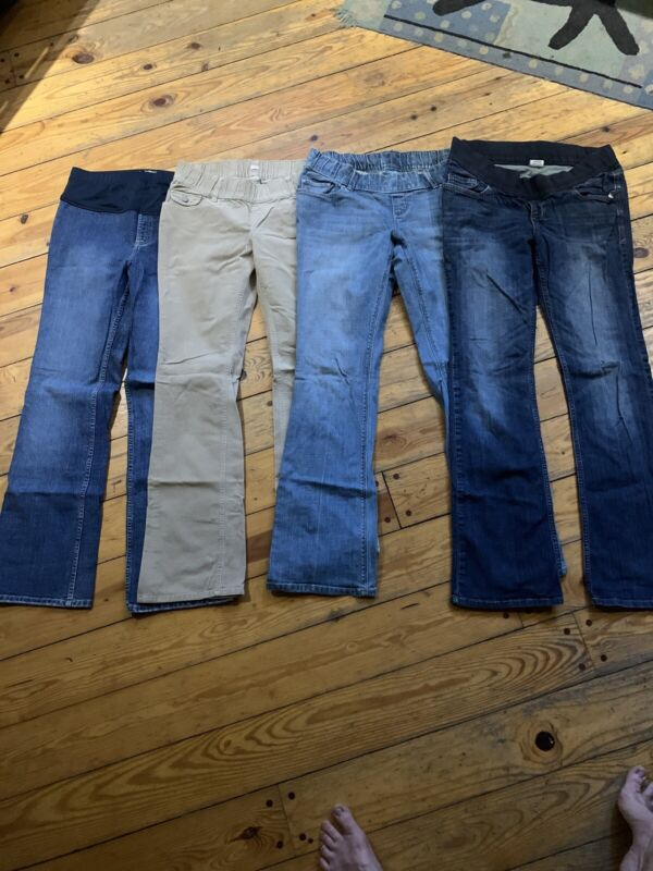 Old Navy Maternity Low Rise 8 Long Medium Long Jeans Corduroys