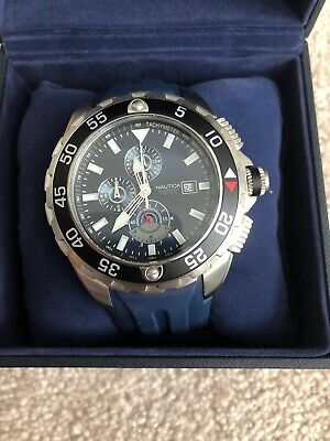 Nautica NST Mens Chrono Quartz Stainless Steel
