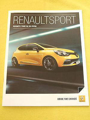 Renault Sport Clio Megane RSi RS paper brochure catalogue April 2013 MINT